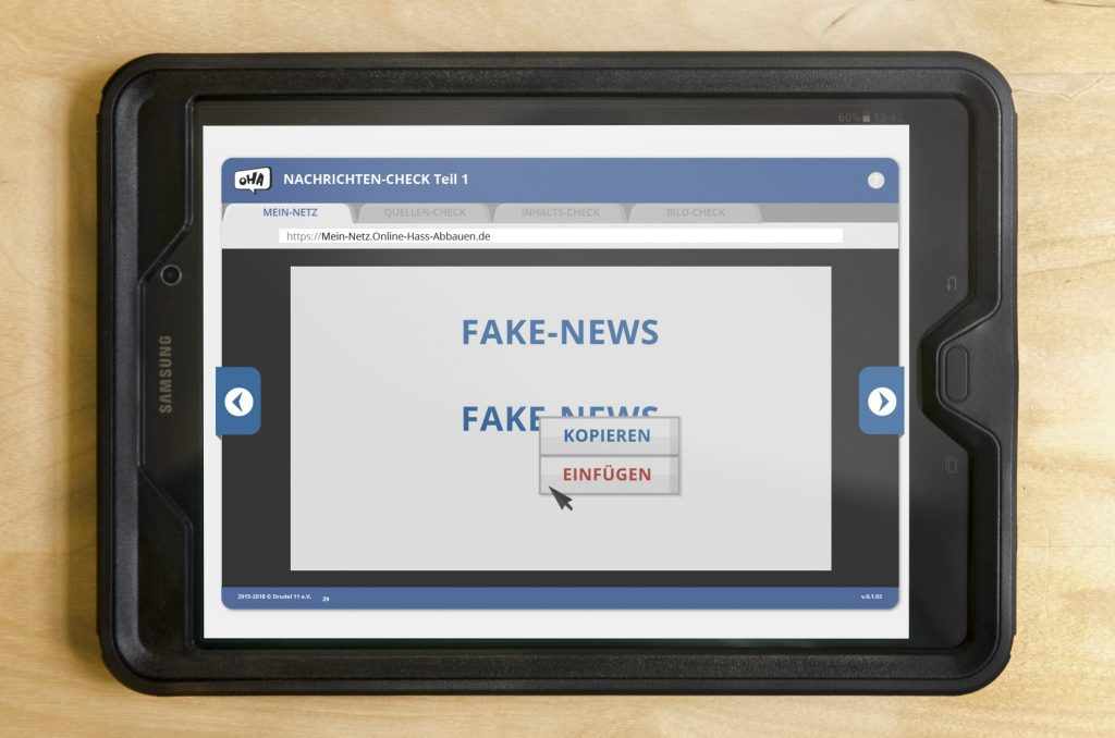Tablet - Nachrichten-Check Teil1 - Fake News - Copy and Paste